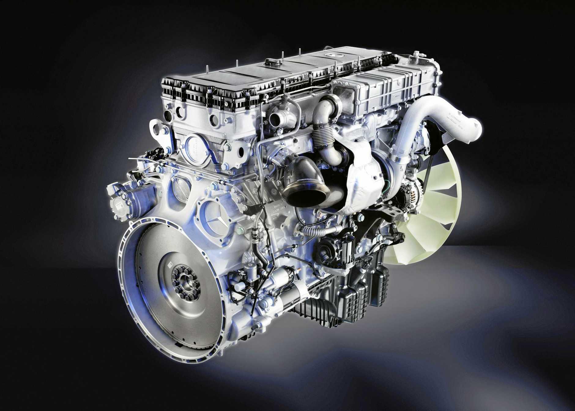 The 16-litre OM 471 engine.
