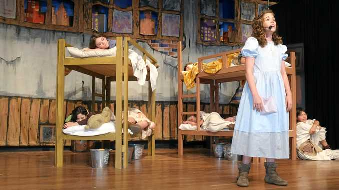 Anna Gillies is one of two girls playing the role of Annie in the Clarence Coast Theatrical Production of Annie.