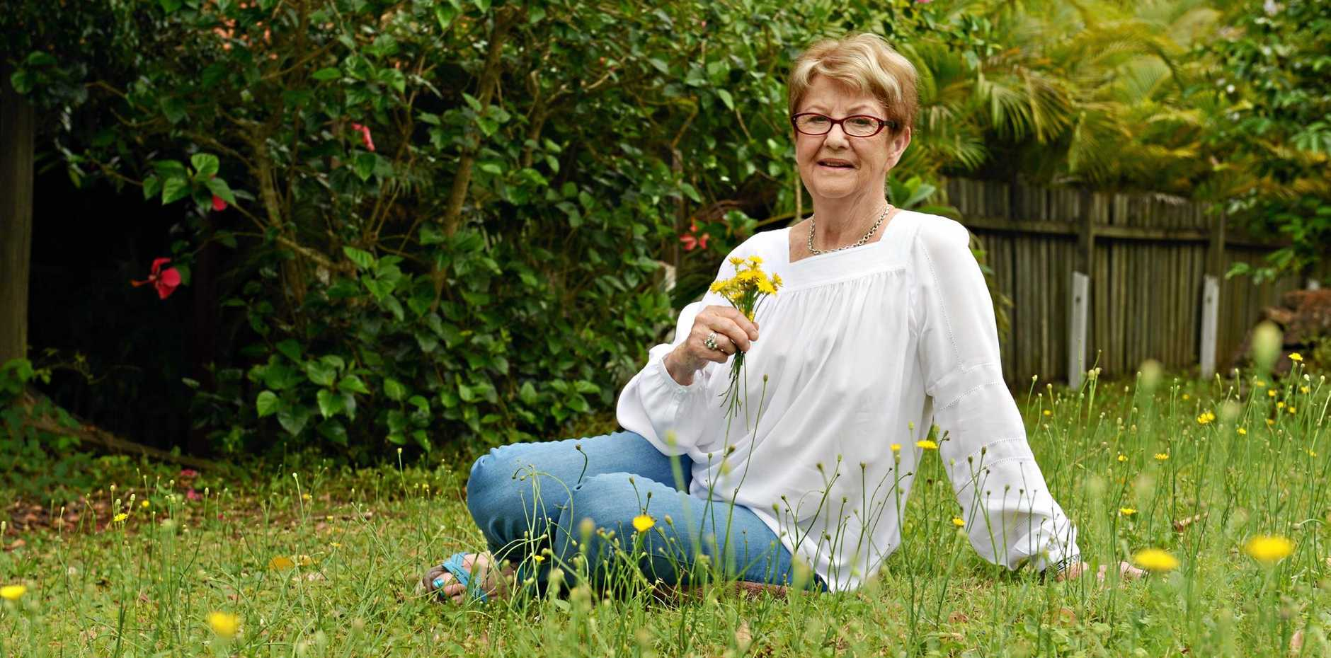 EVERYDAY HERO: Marion Walsham launching her book 'Wishing on a Dandelion' earlier this year.
