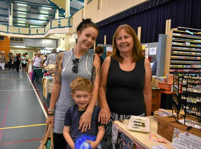 Kimberley Andrew, Eneco Bowman and Joanne Walker at the 2016 Gympie Rotary Quilt and Craft Spectacular.