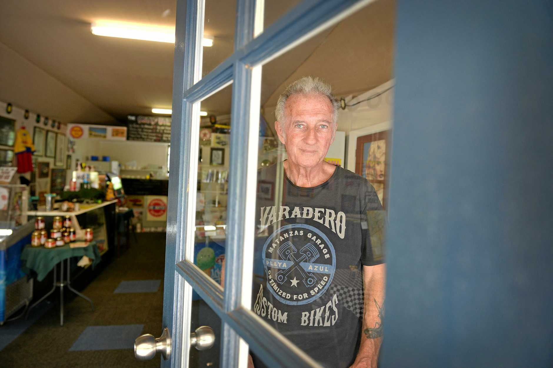 Peter Williams owner of the Rusty Ute Cafe in Walooga. Photo Renee Albrecht/Gympie Times