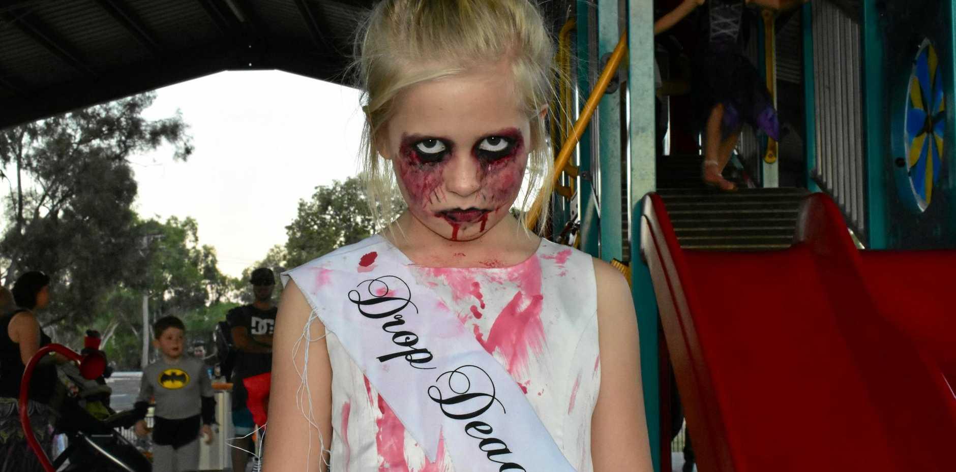 Haylee Proud as a zombie princess