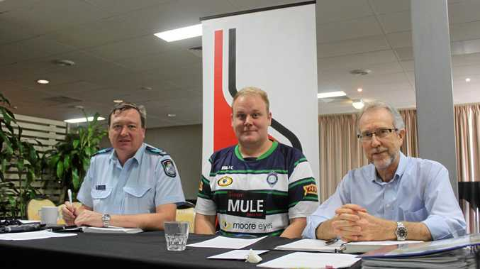 LOCKOUT LAWS: Sergeant Paul Bennett, SNRP President Hamish Hughes and SNRP Secretary/Treasurer Hal Stone at the Safe Night Rockhampton Precinct Inc. general meeting.
