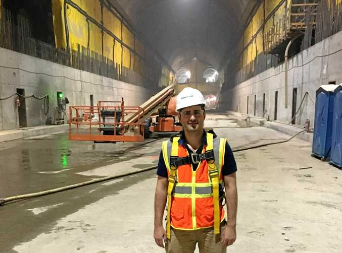 JETSETTER: Joe Sammut's Bachelor of Engineering has taken him all over the world. He's currently working 14 storeys underground on East Side Access, a $10.2 billion (US) project in New York City.