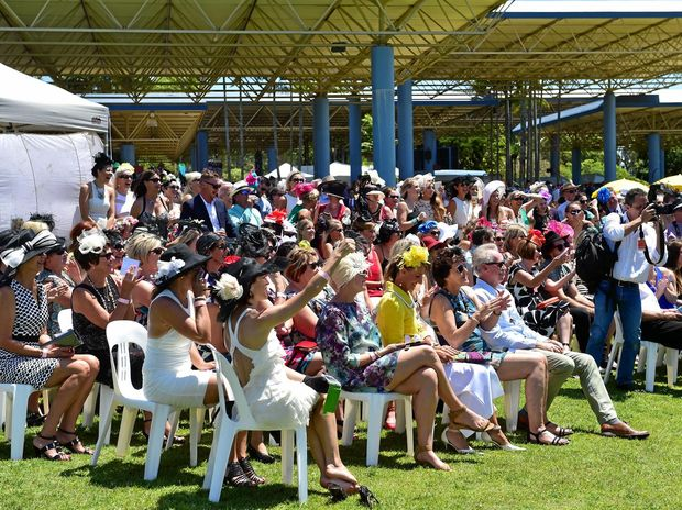 The crowd at Corbould Park for last year's Melbourne Cup.