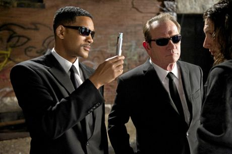 Will Smith, left, and Tommy Lee Jones in a scene from the movie Men In Black 3. Supplied by Sony Pictures publicity website. Please credit photo to Wilson Webb.