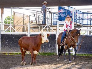 Rodeo Queens debut in Warwick campdraft