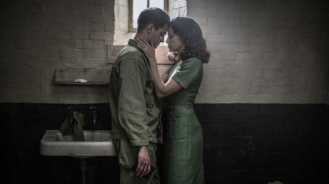 Andrew Garfield and Teresa Palmer in a scene from the movie Hacksaw Ridge.