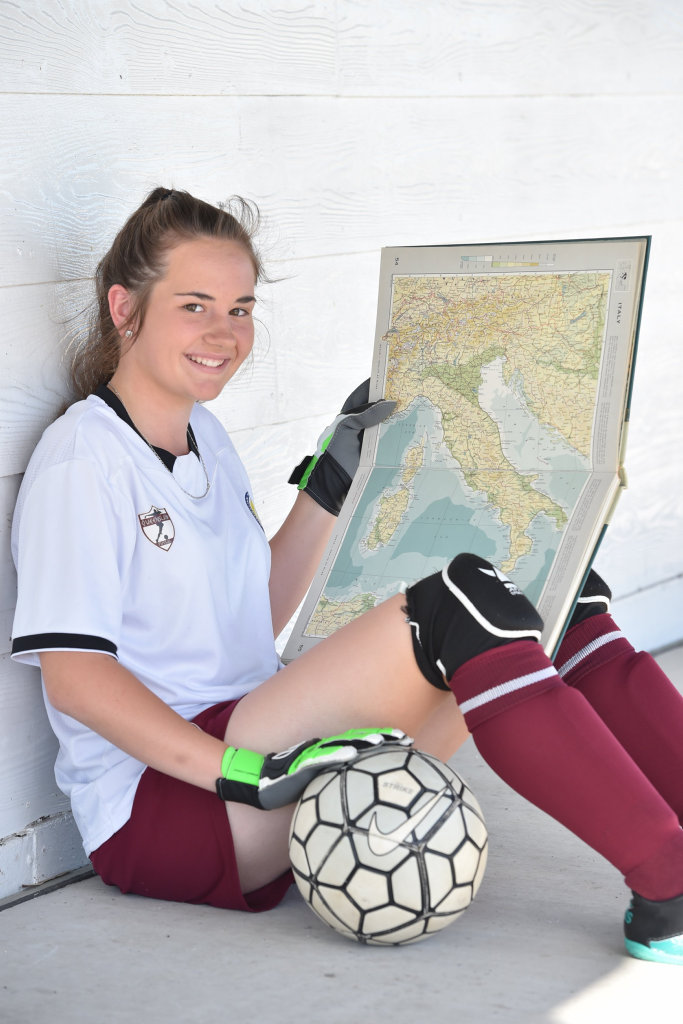 Elley Haines,14, from Maryborough, going to Italy for futsal.