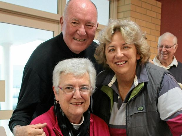 SET TO SING: Pianist Larraine O'Brien, celebrity chef and emcee for the afternoon Peter Howard and choir member Rosemary McCormack are gearing up for the concert to benefit locals in Coolum.