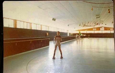 A patron enjoying a skate at the old Gympie Skateland.
