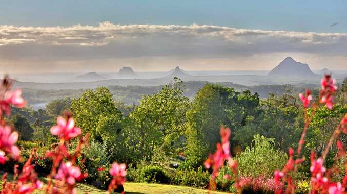 BREATHTAKING: The view over the Glass House Mountains.