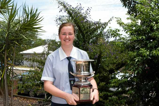 TOP STUDENT: Prudence Townsend-Webb received the award for Dux of the School, as well as the Year 12 Long Tan and Year 12 Excellence Awards.