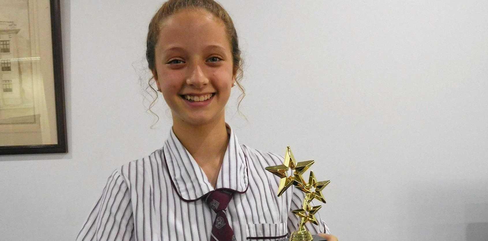 HEARTFELT TOPIC: North Rockhampton High School Year 8 student Alicia Kyriazis won the October High School Young Writer Award.