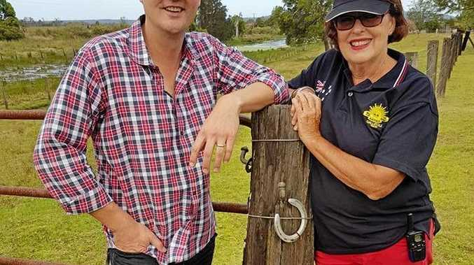 Country performer Adam Harvey with Clarence Valley Country Muster organiser Wendy Gordon.
