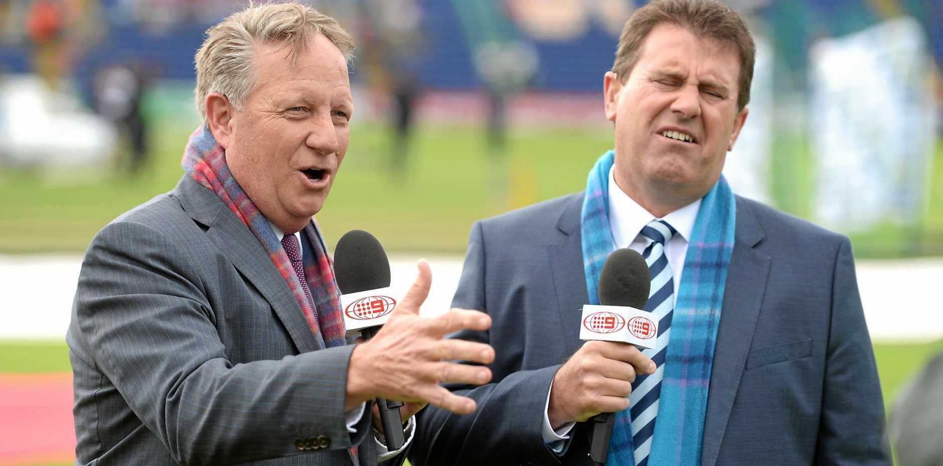 Channel Nine commentators Ian Healy and Mark Taylor.