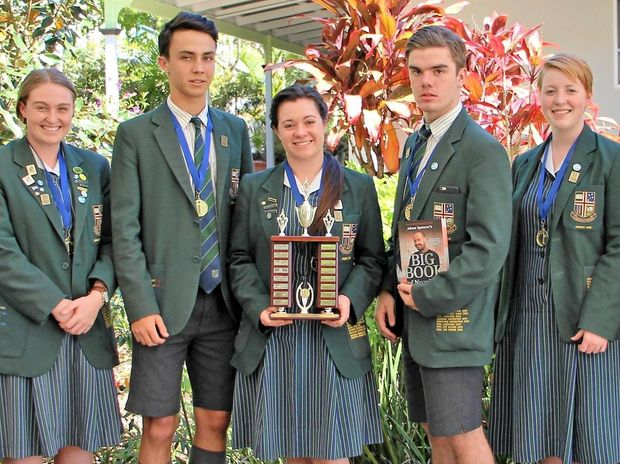 NUMBERS GAME: The Sunshine Coast Grammar School Year 12 Maths Tournament winners.
