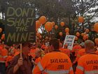 New Hope workers rally outside Queensland Parliament House in support of New Acland Stage Three.