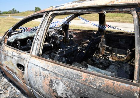 Burnt out car stolen from Gogango