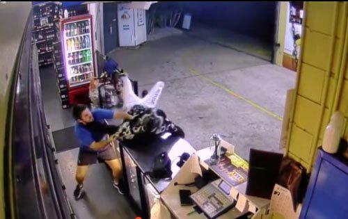 Brunswick Hotel clerk fights robber