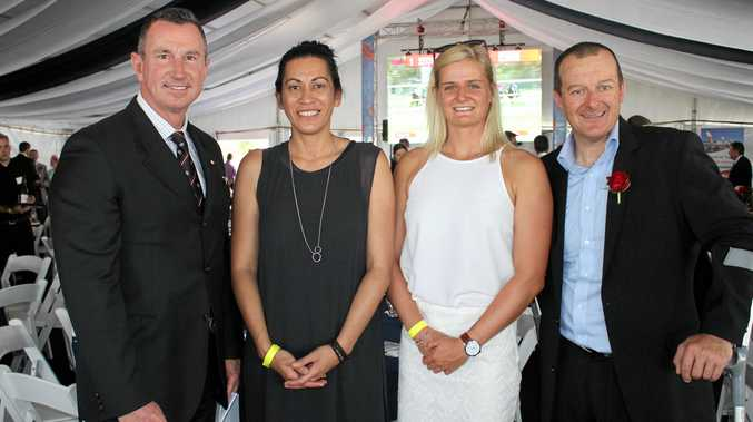 SUPERSTAR PANEL: Duncan Armstrong, Noeline Taurua, Alyssa Bull and Michael Milton at Wishlist's Cup Day fundraiser.