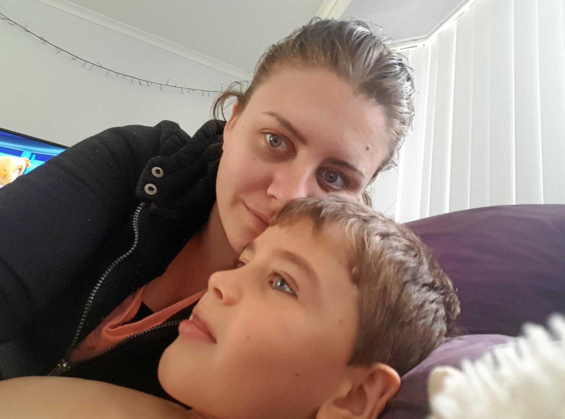 Sophie Cashen, of Aroona, with her son, Miller O'Flynn, who is battling a diagnosis of terminal PKAN - NBIA.