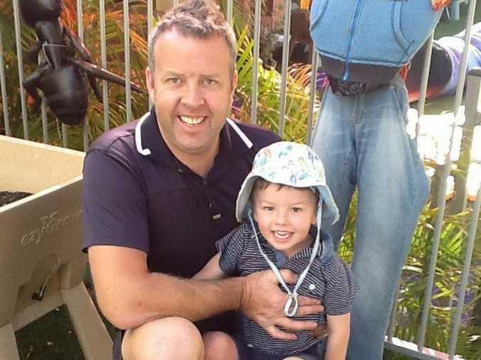Stephen Small with his son Oscar.