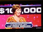 IN THE HOT SEAT: Pam Harrison playing for $250,000.