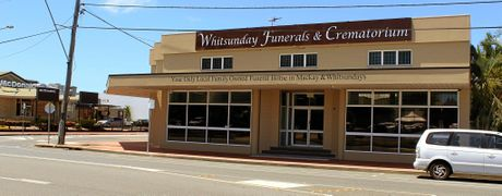 Whitsunday Funerals and Crematorium's new premises at the corner of Shakespeare and Juliet streets.