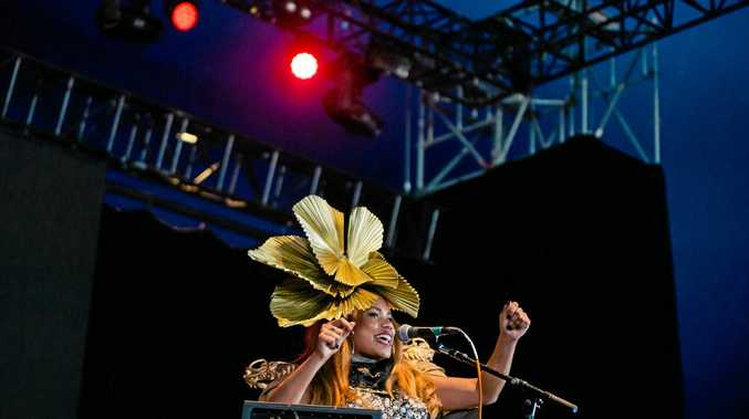 ON STAGE: Former Lismore resident Ngaiire during her first ever solo show at Splendour in the Grass 2016.