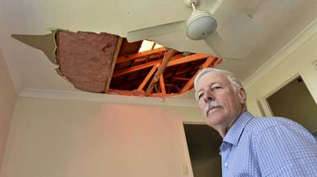 STORM DAMAGE: Mark Winning's Darling Heights home was damaged by what has been called a