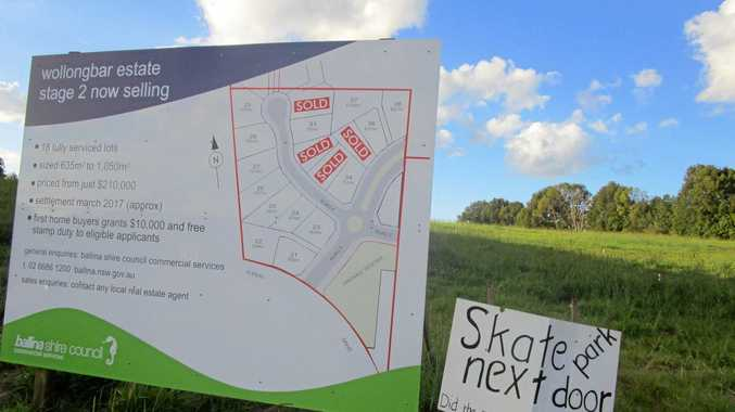 There have been concerns about the location of a planned skate park for Wollongbar.