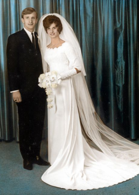 WEDDING BELLS: Bob and Val Ford on their wedding day on November 5, 1966.