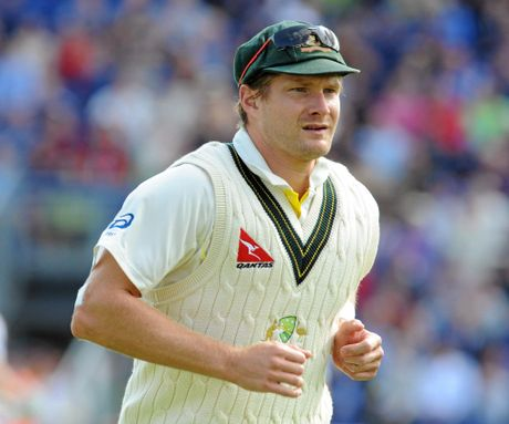 Australia's Shane Watson during day one of the first Ashes Test in Cardiff in 2015.