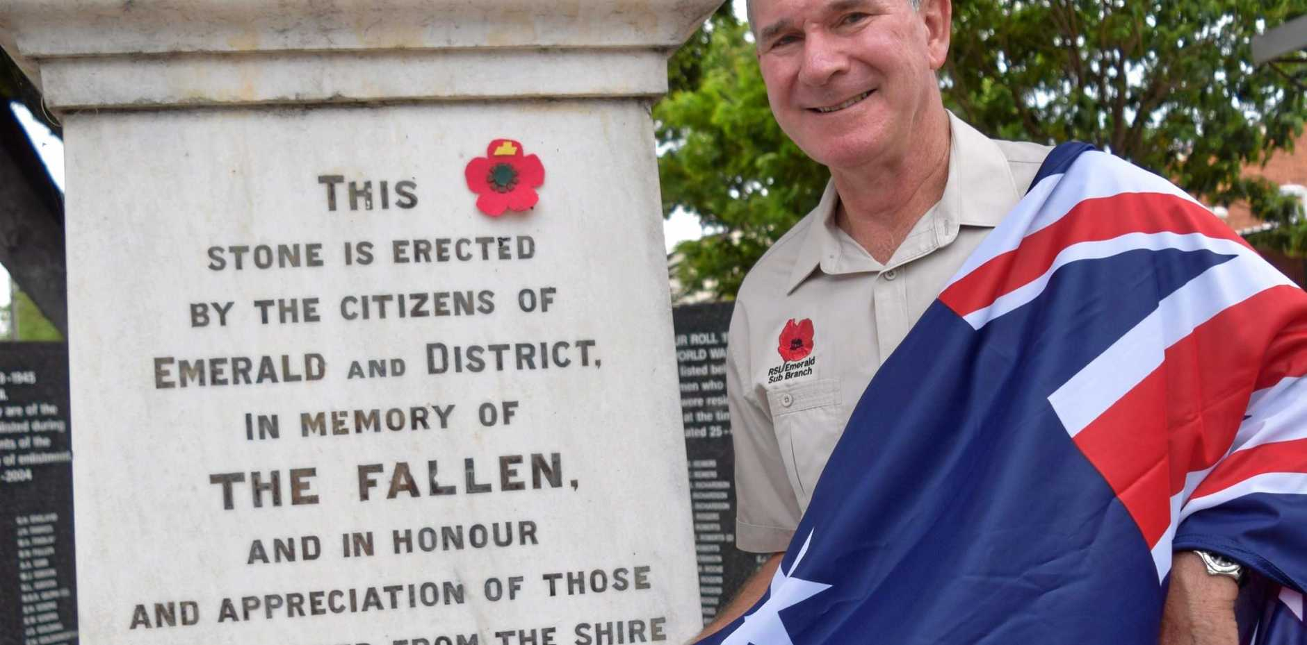 IMPORTANT: Bryan Ottone is encouraging people to come along to the Remembrance Day service and the unveiling of new flag poles at the Emerald Bowls Club.