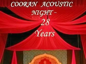 STAGE IS SET: The Cooran Memorial Hall stage is ready for the final Cooran Acoustic Night for 2016.