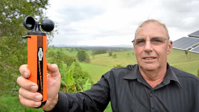 EYES ON THE SKIES: Gympie weather watcher Ted Uebergang.