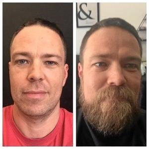 Detective Senior Constable Logan shaves his beard for Movember