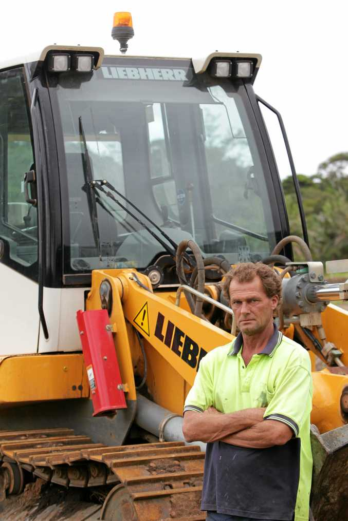 Dave Gibbs from Gibbs Earthmoving at Diddillibah was left owed almost $900,000 after the Walton Construction collapse. Photo: Brett Wortman / Sunshine Coast Daily