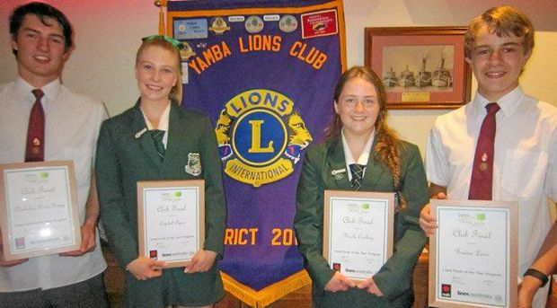 WELL DONE: Nicholas Power-Geary, Crystal Piper - Overall Winner, Nicole Cowling and Braden Lewis - Public Speaking Winner.