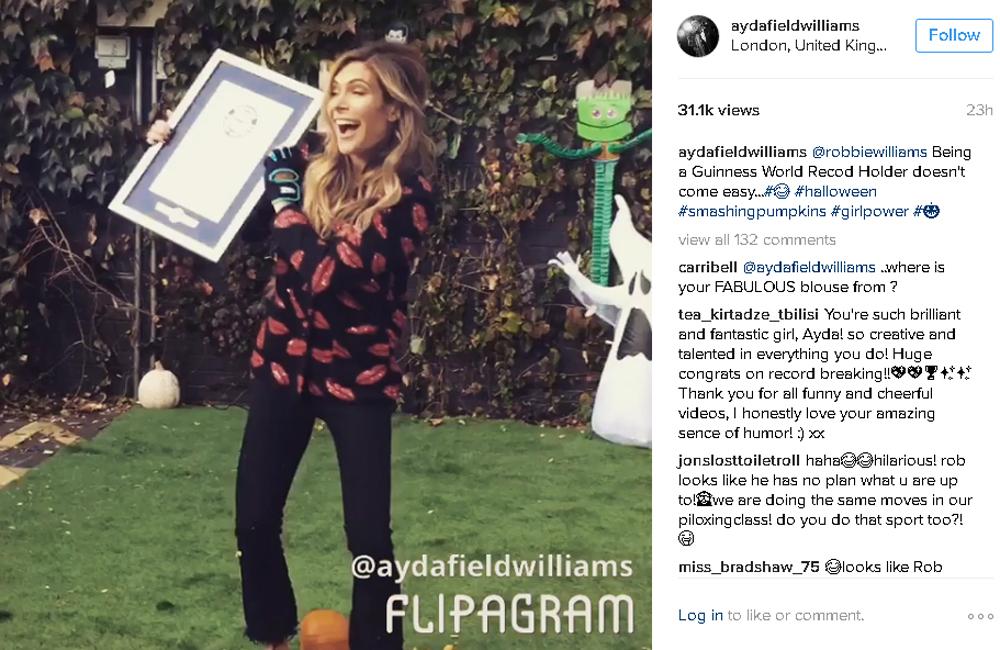 Ayda Field's Instagram post