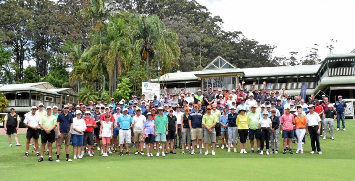 The impressive field of players for Bonville's 2015 Rotary Charity Golf Day.