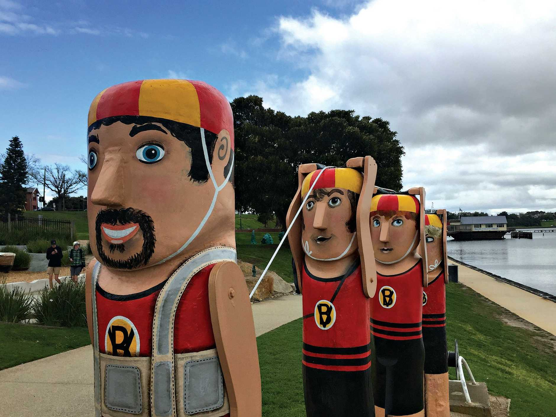 The bollards in Geelong that stand along the city's foreshore.