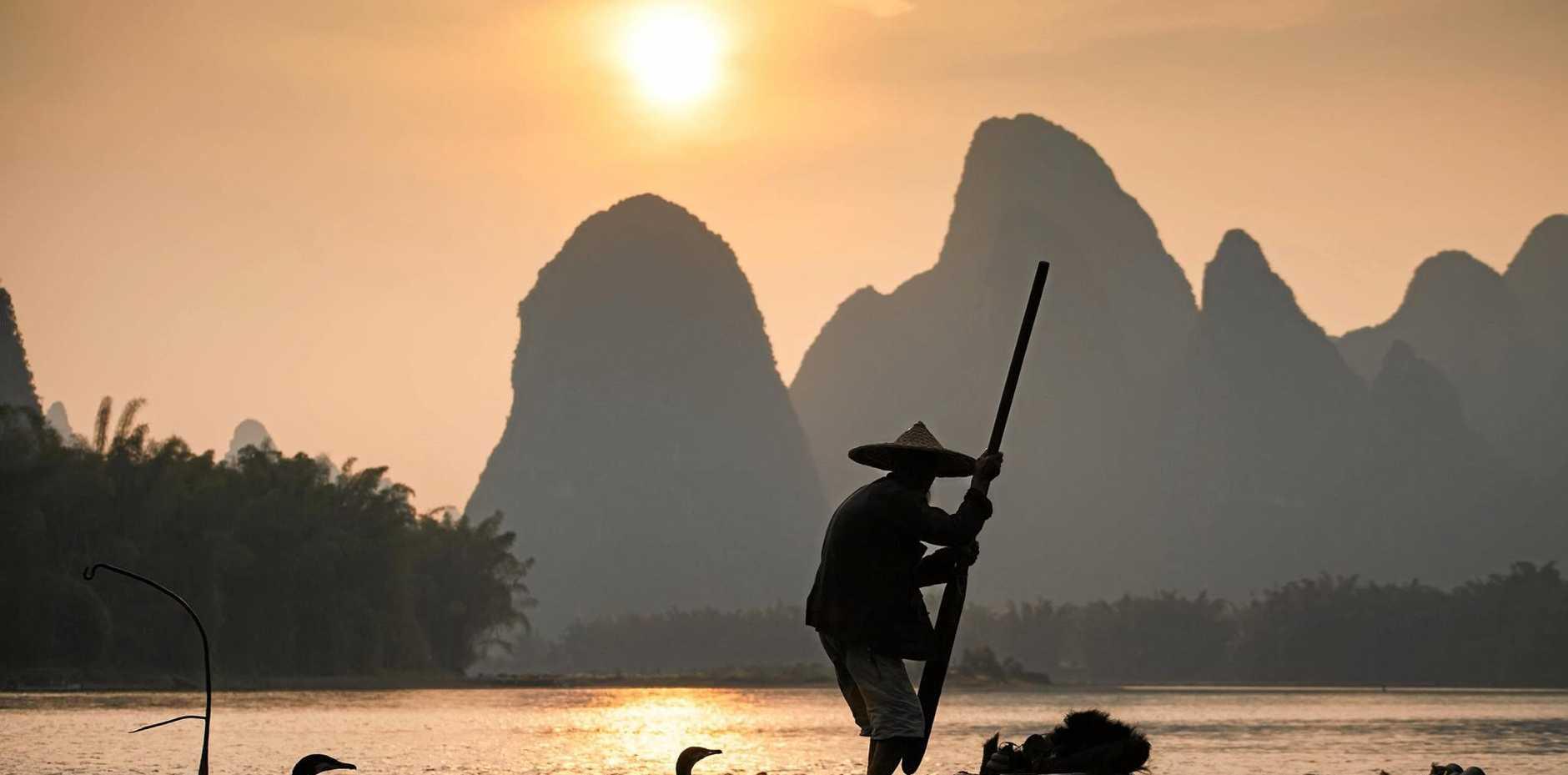 Cormoran Fishing, Yangshuo, China