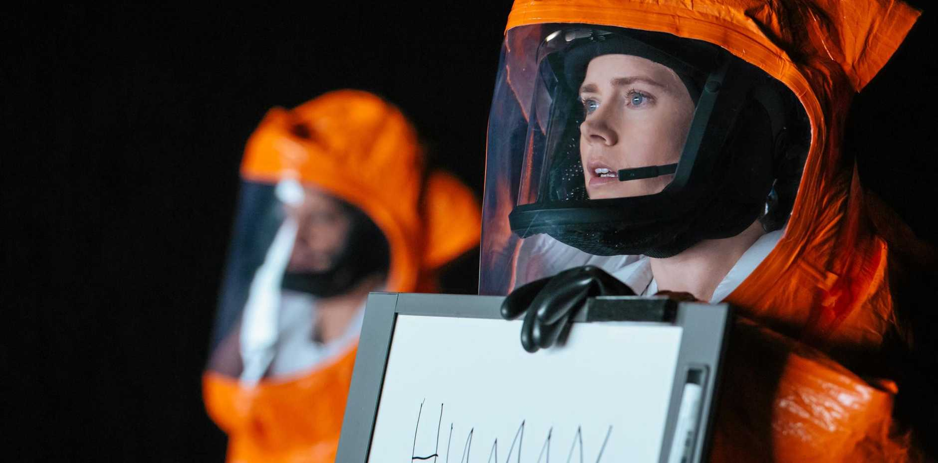 Amy Adams as linguist Louise Banks in Arrival.