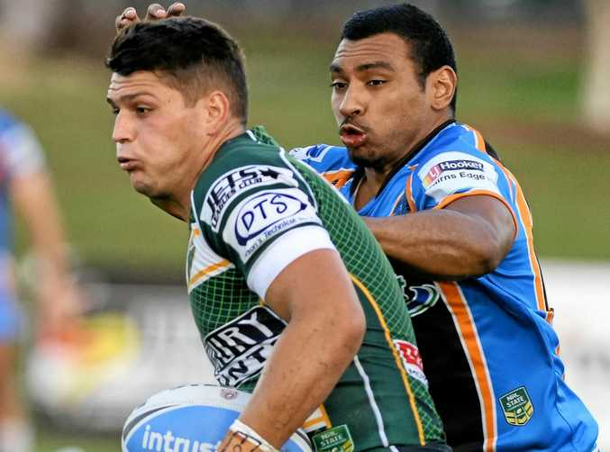 TALENT: Carlin Anderson (left) will attempt to crack the North Queensland Cowboys squad with a move to Townsville for the 2017 rugby league season.