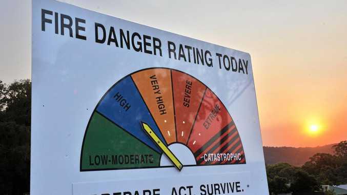 Fire Danger Rating sign. Photo: John McCutcheon / Sunshine Coast Daily.