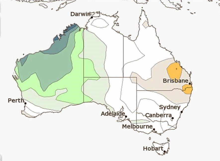 Rainfall outlook November - January.Photo: Contributed