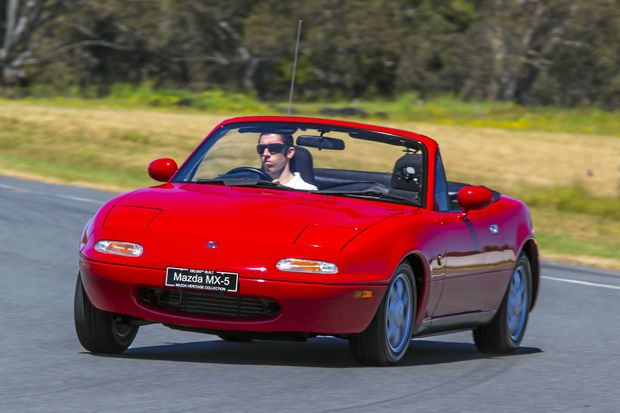 The first Mazda MX-5, generation NA.
