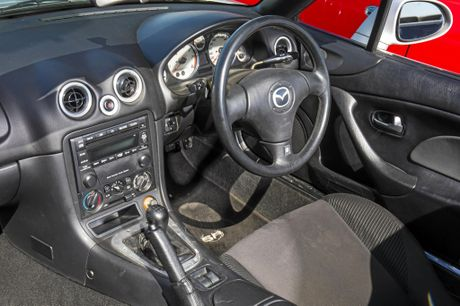 Inside the Mazda MX-5 NB.
